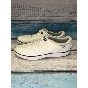 KEDS WHITE LEATHER LACE UP WOMENS 10